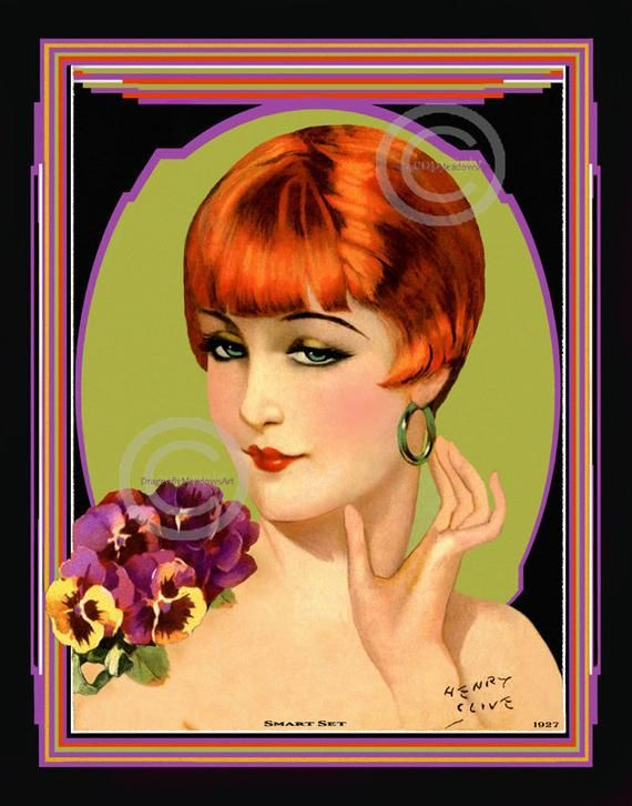 """Vintage Pin Up Portrait of a Redhead 11 x 14/""""  Photo Print"""