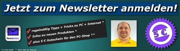 Newsletter mit Tipps, Tricks + Infos zu PC + Internet - Jetzt #kostenlos #anmelden. - Regelmäßige #Tipps, #Tricks, #Infos + #Anleitungen zu #PC + #Internet Auch zu Themen wie #Sicherheit, #Datenschutz, #Browser, #Windows, #Programme, #Datensicherung, Microsoft #Office uvm. Als Bonus gibt's noch einen 5 € #Gutschein für den #Shop, den Sie unter www.mks-pc-shop.de einlösen können.