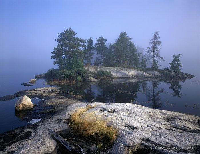 Foggy Morning on Sand Point Lake  Voyageurs National Park, Minnesota by Gary Alan Nelson