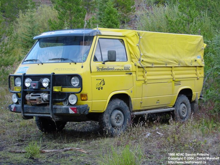 Vw Syncro Single Cab With Winch Off Road Race Support