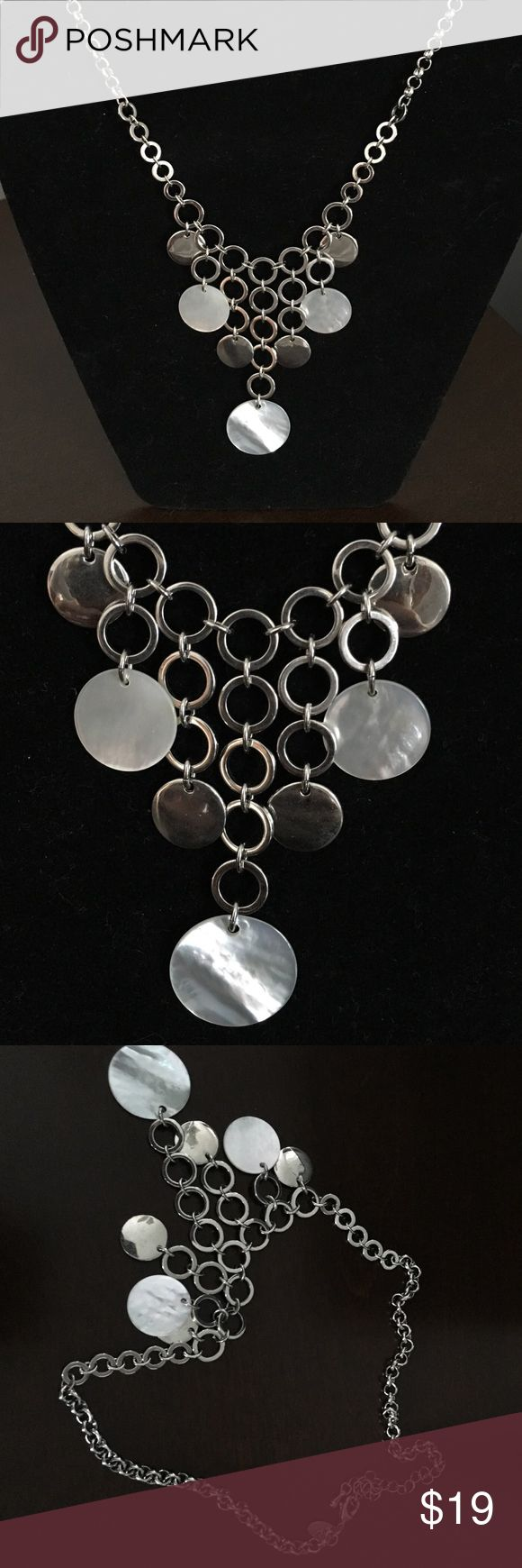"Lia Sophia Necklace Lia Sophia Necklace. Silver with silver circles and a few white opaque circles. Chain: 16"" is the smallest it can be; 18.5"" is the longest. Lia Sophia Jewelry Necklaces"