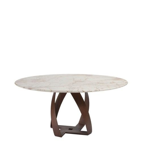 Bon Bon Fix Table Base   RAL 7016 Anthracite   AVAL Micaceous Brown (  Lacquared Embossed Metal)   Gold Lacquared Metal Top Marble: Sahara Noir,  ...