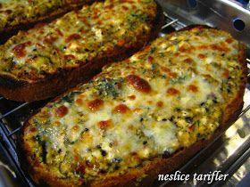 ! ♪♫♪ Neslice Tarifler ♪♫♪ !: Izgarada Pişmiş Peynirli Baharatlı Kahvaltılık Ekmekler