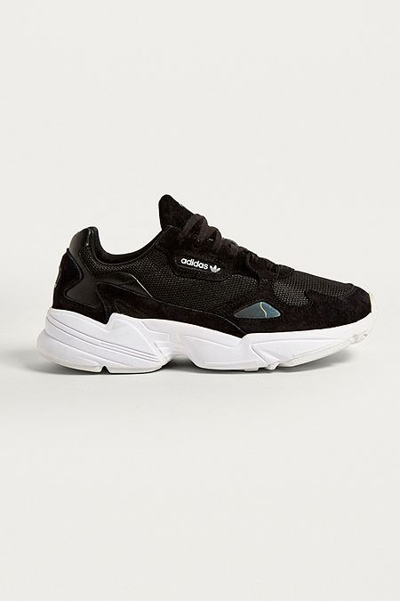 release date a0c3f 50246 adidas Originals Falcon Core Black Trainers