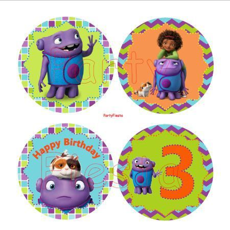 home birthday decorations sticker labels topper