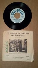 Elvis Presley memorabilia, Vester Presley autographed 45 record