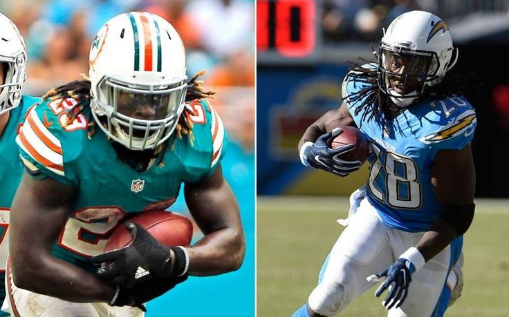 Ajayi and Gordon in duel of second-year running backs Sunday in Dolphins-Chargers game