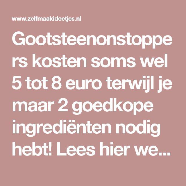 Gootsteenonstoppers kosten soms wel 5 tot 8 euro terwijl je maar 2 goedkope ingrediënten nodig hebt! Lees hier welke! - Zelfmaak ideetjes