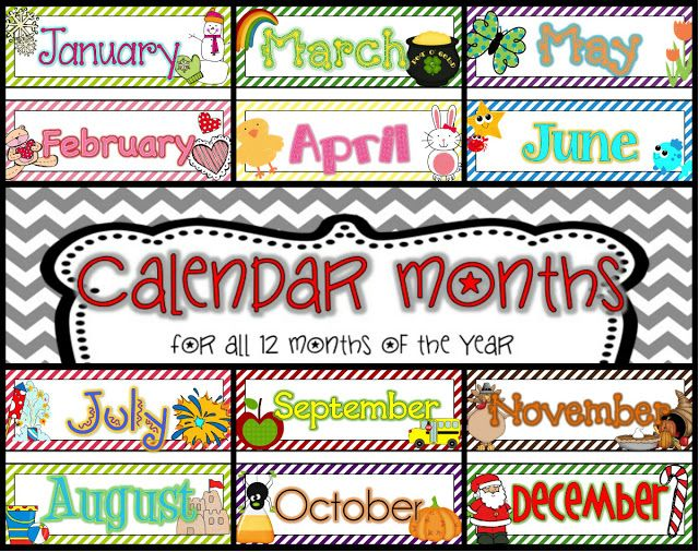 12 month calandar