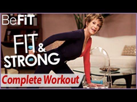 Jane Fonda - Fit & Strong, Treino Completo, é um treino de baixo impacto, 53 minutos de exercícios de fortalecimento e tonificação conduzido pela Célebre Jane Fonda, ícone da boa forma.Neste treino completo,Jane Fonda - Fit & Strong, Treino Completo, irá trabalhar todos os músculos do corpo desde pernas, glúteos, coxas, braços, costas, abdominais, ombros, etc.Através destas 2 séries de 25 minutos,
