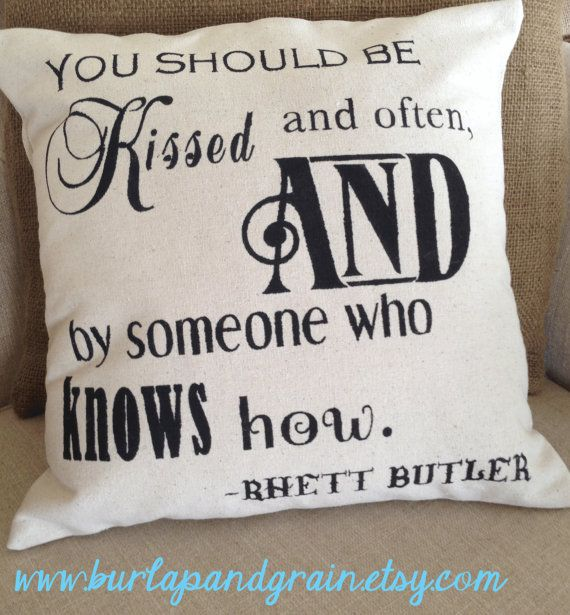 Rhett Butler Pillow-Gone With The Wind 12x12 Pillow Cover with free insert.
