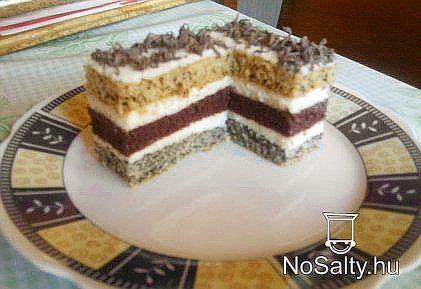 Csíkos sütemény Sylvie konyhájából