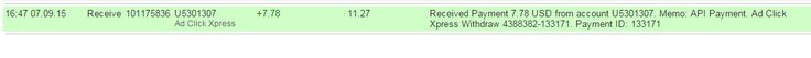 Adclickxpress OMG GUYS I AM GETTING PAID TWICE A DAY COZ ITS NONE OTHER THAN ACX.. HERE IS MY 43rd PAYMENT FROM ACX (Adclickxpress) I am getting paid AGAIN AND AGAIN IN LESS THAN 3 HOURS at ACX.. This programme is MAKING A BANG in online income history.. and i am glad that I have joined the LEGIT AND AWSOME ACX EARNING SET UP.. VERY STABLE SYSTEM.. This is not a scam..its 100% legit.. If you wanna get-rich quick scheme to make a bunch of money before it crashes, you are in the wrong place…