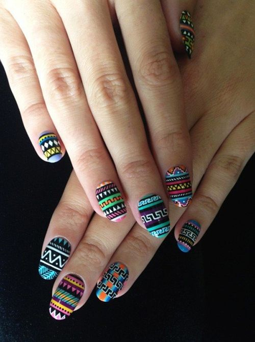 Cute tribal nail design for 2016 fashion te nail art pinterest mode tes et ongles vernis Fashion style and nails facebook