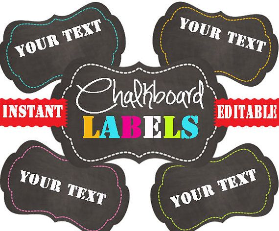 Chalkboard Labels -Printable Labels - INSTANT and EDITABLE - Pantry Labels, Bathroom Labels, Office Labels, Organization Tags #chalkboardlabels #printablelabels #chalkboardtags #digitallabels #printables #organizing #pantryorganization