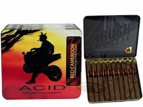Acid Krush Red Cameroon 4 x 32—Tins: 50 Cigarillos - Best Cigar Prices