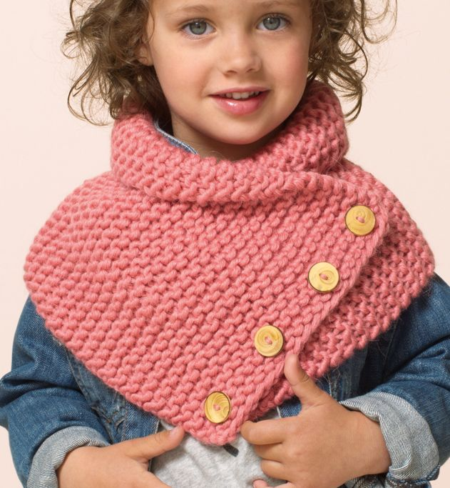 knitted snood -capelet for girl - Modèle snood Enfant - Modèles Femme - Phildar