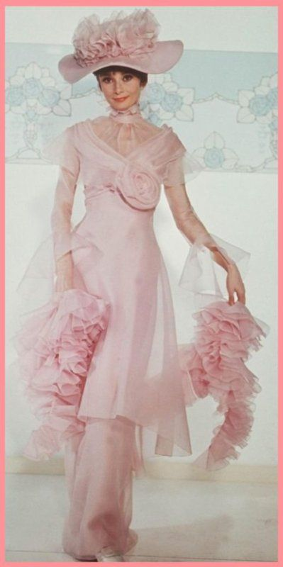 """Audrey Hepburn (My_Fair_Lady) 219 Audrey Hepburn My Fair Lady 6 Morring Gown """"Henry By George, she's got it! By George, she's got it! Now, once again where does it rain? Eliza On the plain! On the plain! Henry And where's that soggy plain? Eliza In Spain! In Spain!"""""""