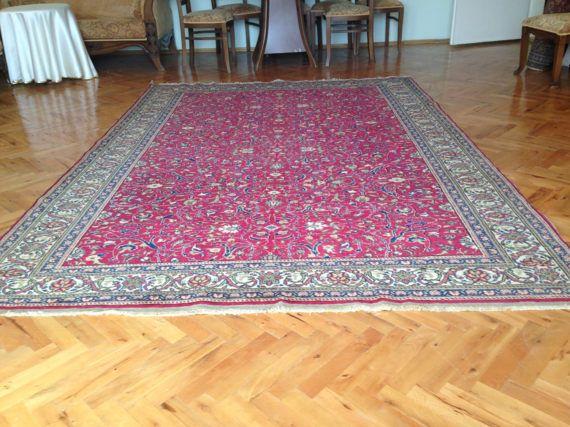 Tapis turc tapis dOrient 9 7 x 6 5 ft grand tapis tapis