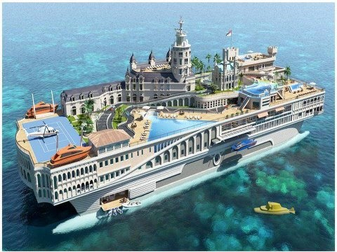 If I had a Billion! The 500-foot behemoth is called 'Streets of Monaco'   1 Billion U$, would be the most expensive yacht in the world