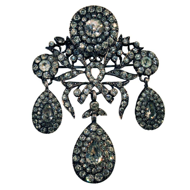 Victorian French Paste Brooch Pendant
