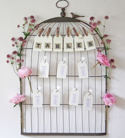 wonderful idea! Vintage Birdcage Wedding Table Plan - The Wedding of My Dreams