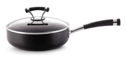 Circulon Contempo Hard Anodized Nonstick 3-Quart Covered Saute Pan by Meyer. $44.99. Professional heavy guage hard anodized construction. Contemporary, stylish double riveted stainless steel with silicone handles. Advanced nonstick inside and outside of cookware. Domed, tempered glass lids with stainless steel rims. TOTAL NONSTICK system features High-Low wave technology. Professional heavy guage hard anodized construction provides fast, even heating and exceptional durabili...