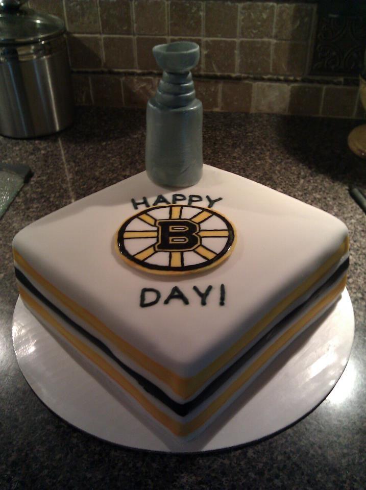 Boston Bruins Birthday Cake! Someone please make this for my birthday!! lol