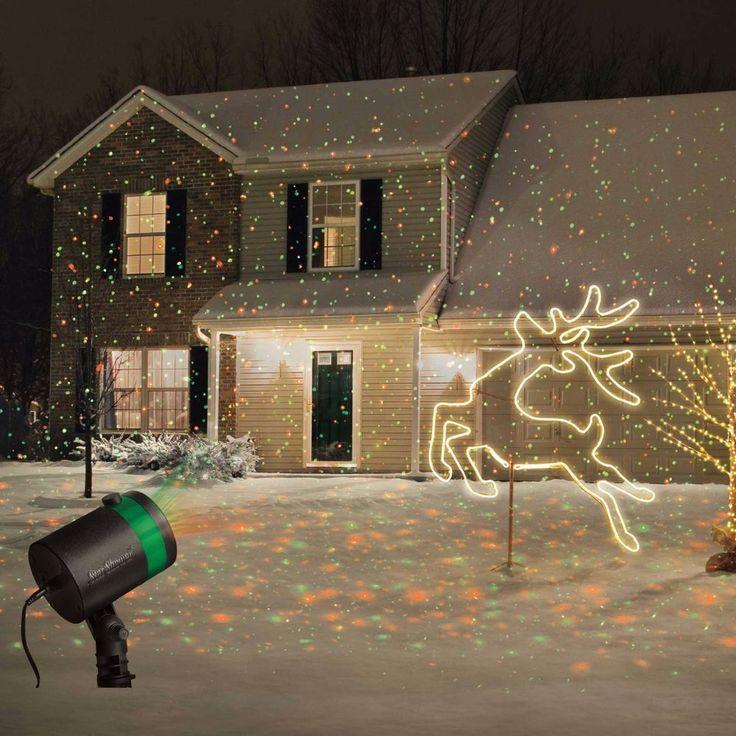 set of 2 star shower laser light projectors outdoor christmas show. Black Bedroom Furniture Sets. Home Design Ideas