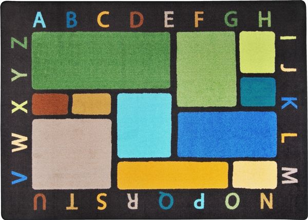 the whimsical design of the building blocks early childhood classroom rug is certain to complement any room where children learn w