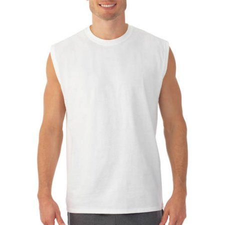 Fruit of the Loom Big Men's Muscle T-Shirt with Rib Trim, Size: 2XL, White