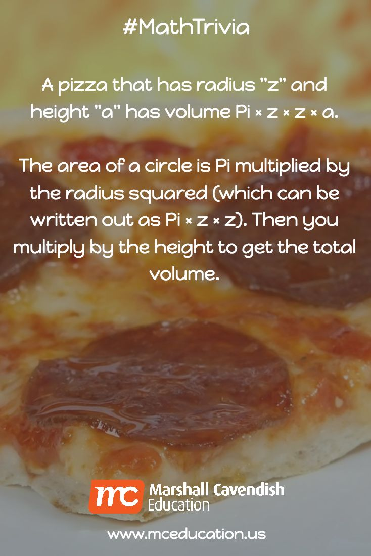 A Pizza That Has Radius
