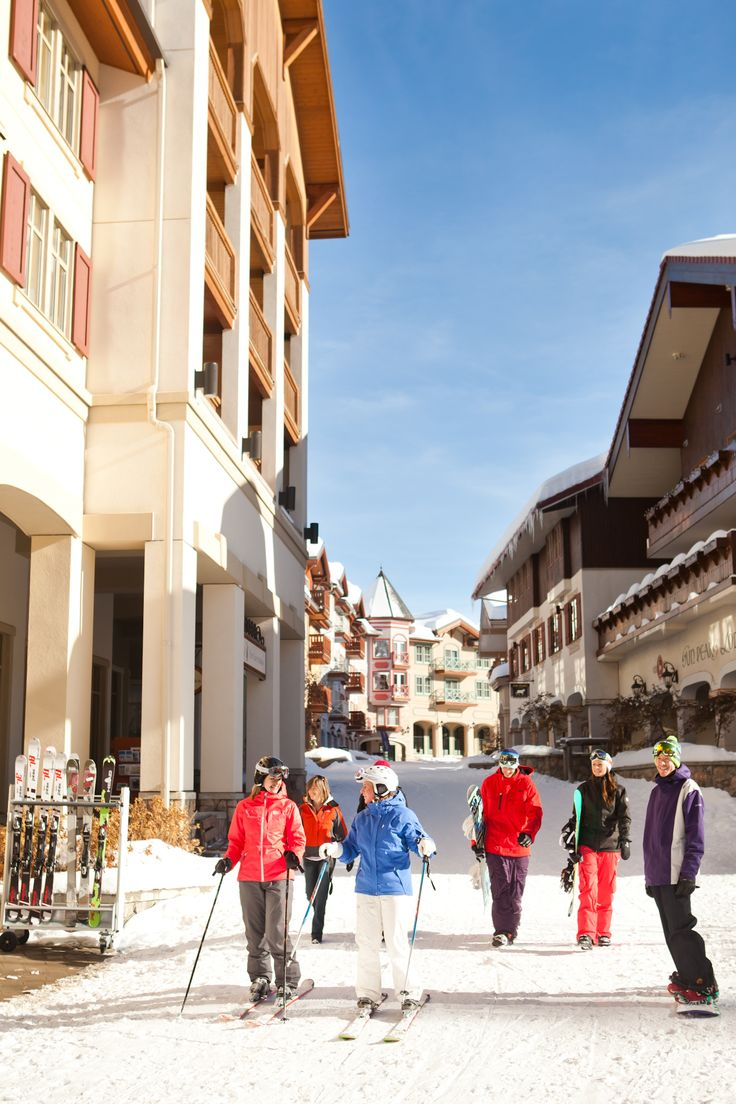 Ski through Sun Peaks Village right to your door! Photo credit: Sun Peaks Village/Royce Sihlis