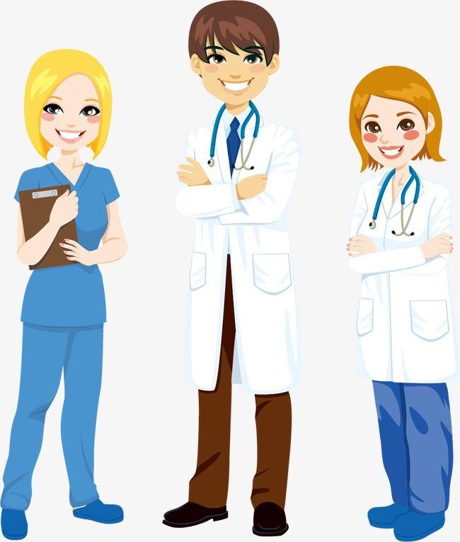Médicos E Enfermeiros De Homens E Mulheres Material De Vetor
