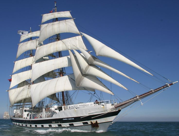 Sailed past this in falmouth harbour today. The Tall Ship Stavros S Niarchos.