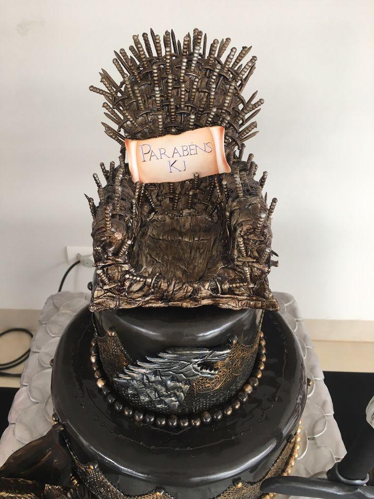 Decoração aniversário Game Of Thrones Bolo fake, personalizados e decoração!