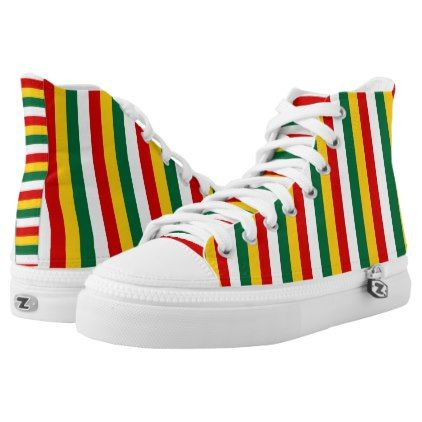 Suriname flag stripes lines pattern High-Top sneakers - pattern sample design template diy cyo customize