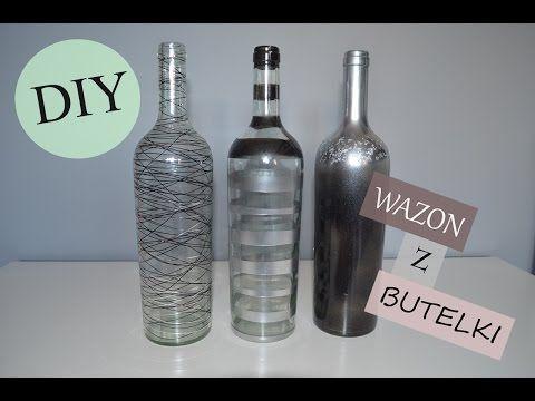 KROK PO KROKU wazon z butelki po winie - YouTube