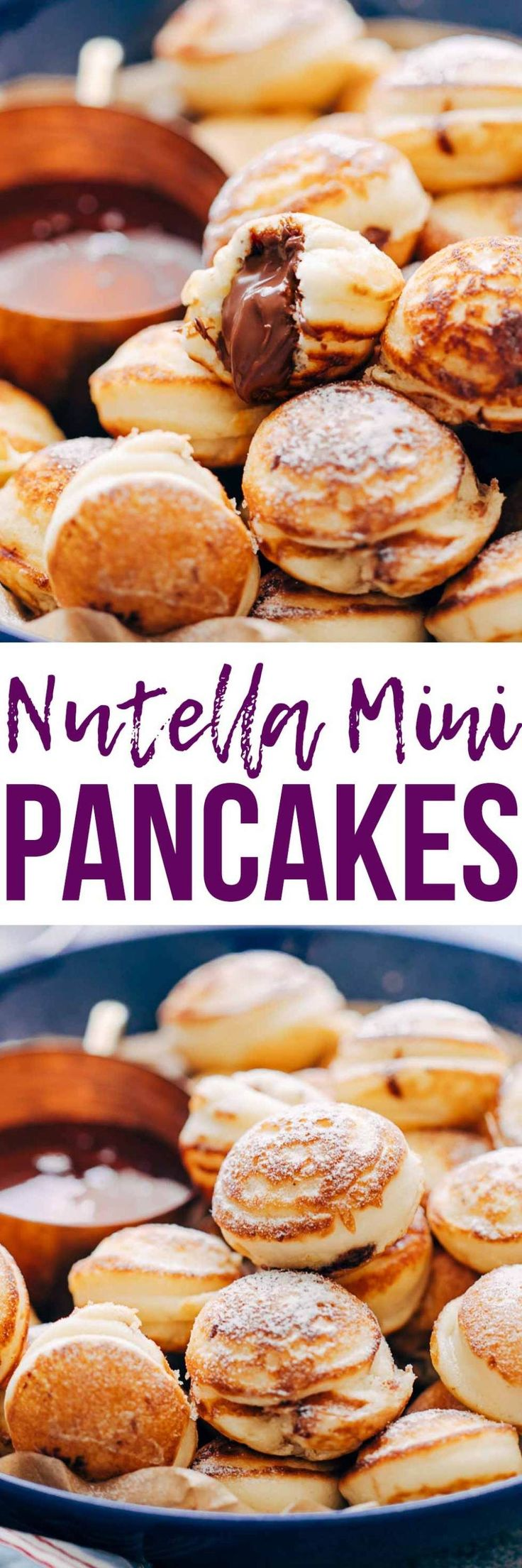 Chocolate Stuffed Mini Pancake Bites are a delicious breakfast/ brunch recipe, made with pancake mix, kid friendly and perfect for a brunch party! Also make them as a back to school evening snack and everyone will love them! My Food Story blog
