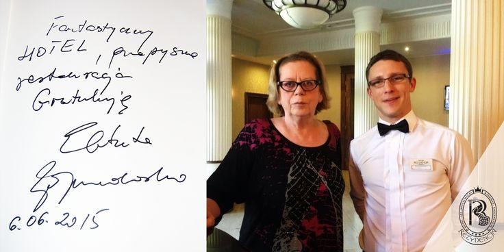 Specjalistka od emisji głosu, krytyk muzyczny, Elżbieta Zapendowska w Rezydencja Luxury Hotel****.