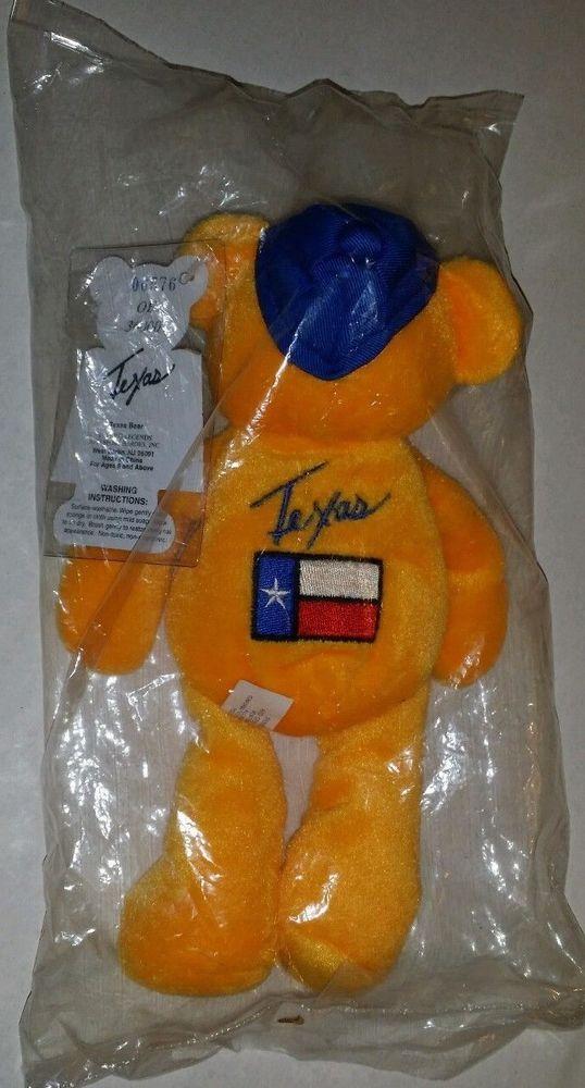 TEXAS famous legends and sport heroes Inc Beanie Bear Plush Toy Mint #FlashBears