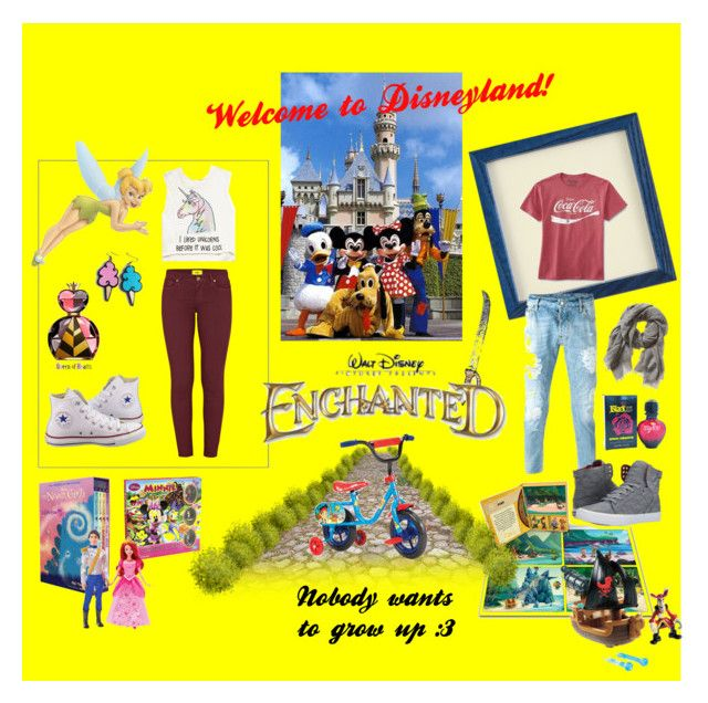 """Be happy in all the forms "" by katherine-chocolate on Polyvore featuring Disney, Paige Denim, Forever 21, Converse, Dsquared2, Supra, Junk Food Clothing, Paco Rabanne and Banana Republic"