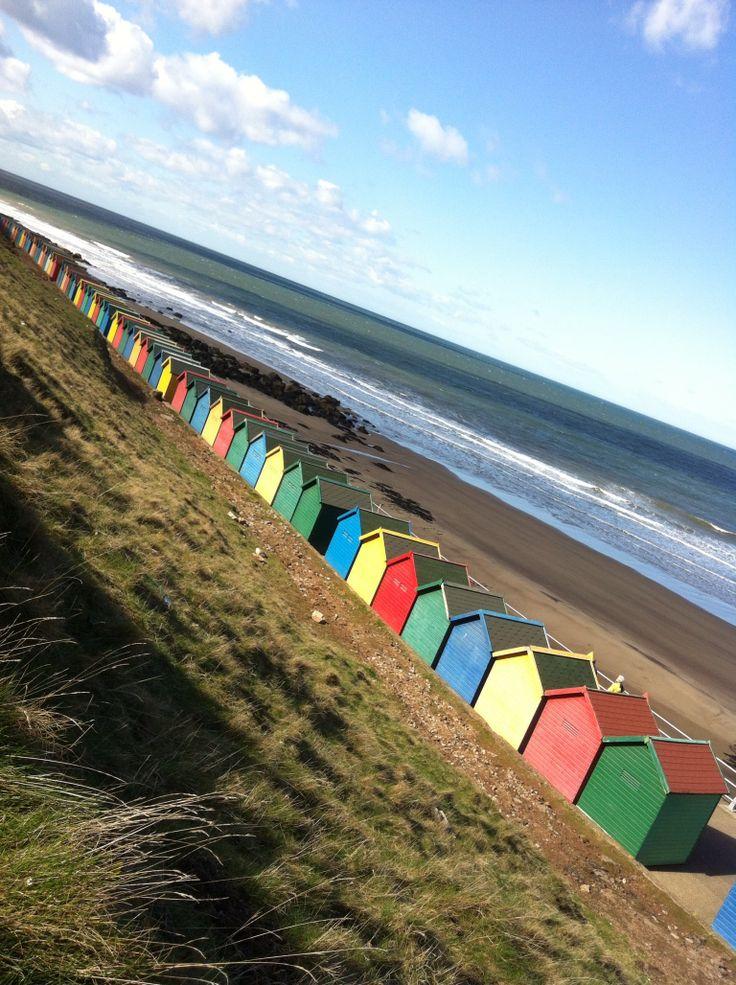 Whitby Beach huts.
