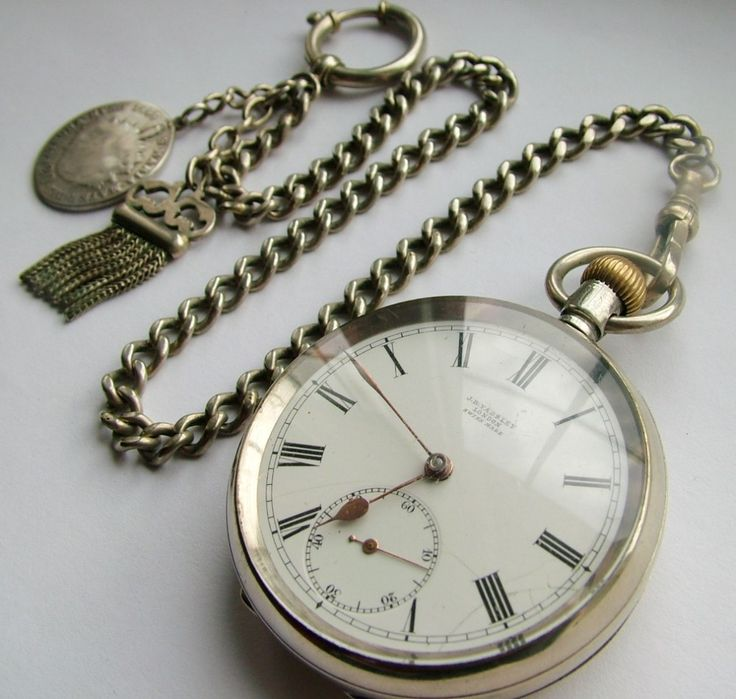 ANTIQUE 1910 OMEGA POCKET WATCH CHAIN