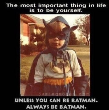 So true! My boys dress like batman daily!