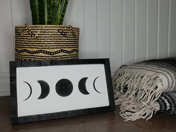 Check out this item in my Etsy shop https://www.etsy.com/ca/listing/559375126/moon-phases-wood-sign