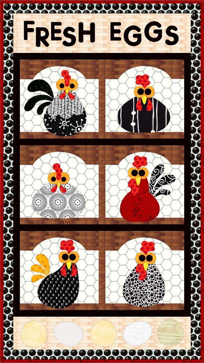 Fresh Eggs Quilt Pattern FCP-033 (advanced beginner, wall hanging)   xxxx