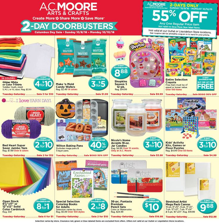 AC Moore Weekly Ad October 9 - 10, 2016 - http://www.olcatalog.com/home-garden/ac-moore-weekly-ad.html