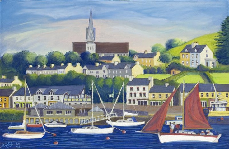 Crosshaven from Currabinny, on exhibition now at Mad Fish Restaurant, Cronin's Pub, Crosshaven