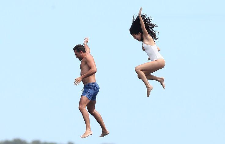 Selena Gomez  in Bikini Drinking & Dancing on a Yacht